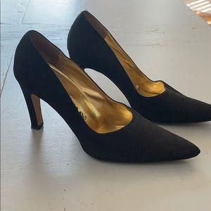 Nina black high heel shoes sz. 7.5